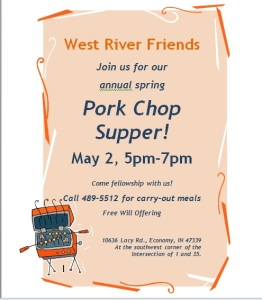 Spring 2015 Pork Chop Supper