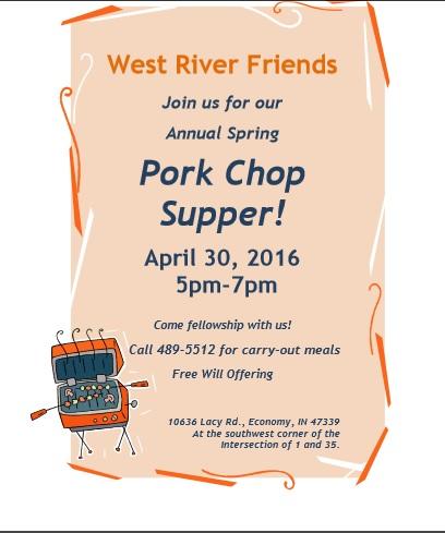 Pork Chop Supper Flyer 2016
